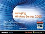 Managing  Windows Server 2008