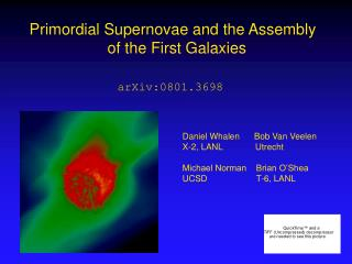 Primordial Supernovae and the Assembly   of the First Galaxies