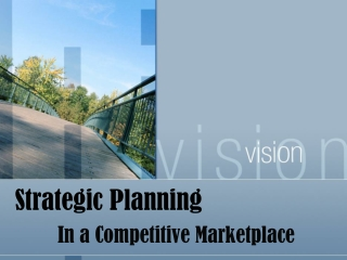 STRATEGIC PLANNING  ENVIRONMENTAL SCAN