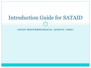 Introduction Guide for SATAID