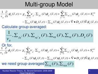 Multi-group Model