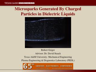 Microsparks Generated By Charged Particles in Dielectric Liquids