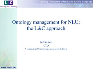 Ontology management for NLU: the LC approach