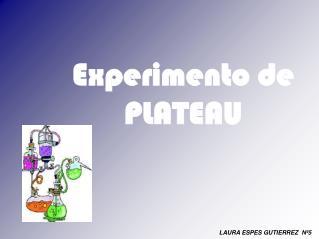 Experimento de PLATEAU