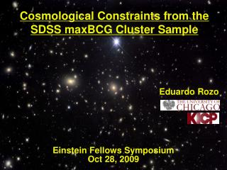 Cosmological Constraints from the SDSS maxBCG Cluster Sample