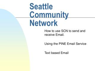 Seattle Community Network