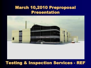 Testing & Inspection Services - REF