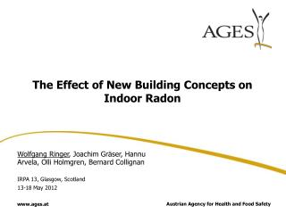 The Effect of New Building Concepts on Indoor Radon