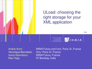 ULoad: choosing the right storage for your XML application