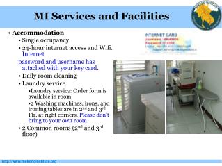 Accommodation Single occupancy 24-hour internet access and Wifi. Internet
