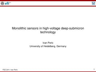 Monolithic sensors in high-voltage deep-submicron technology