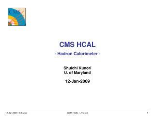 CMS HCAL - Hadron Calorimeter -