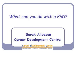 What can you do with a PhD?