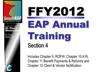 FFY2012  EAP  Annual  Training Section 4