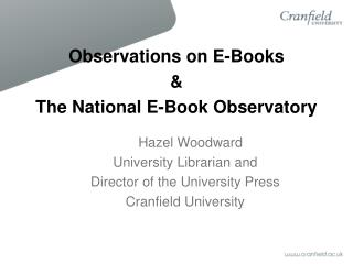 Observations on E-Books  &  The National E-Book Observatory