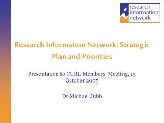 Research Information Network: Strategic Plan and Priorities