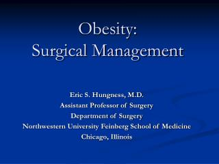 Obesity: Surgical Management