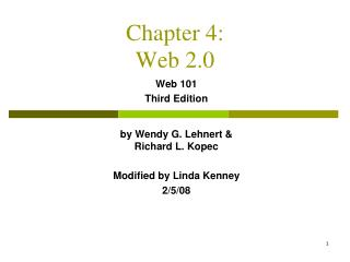 Chapter 4: Web 2.0