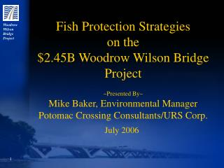 Woodrow  Wilson  Bridge  Project