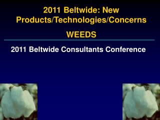 2011 Beltwide: New Products/Technologies/Concerns WEEDS