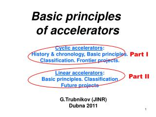 Basic principles  of accelerators