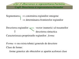 Cap. 5. Descrierea si reprezentarea formelor