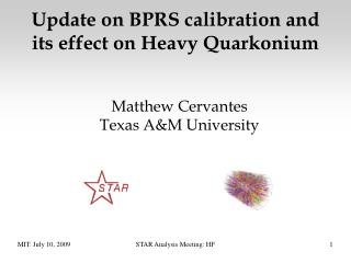 Update on BPRS calibration and its effect on Heavy Quarkonium