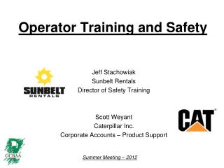Operator Training and Safety
