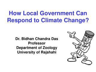 How Local Government Can Respond to Climate Change?