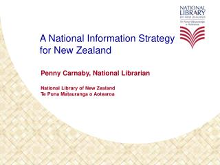 A National Information Strategy for New Zealand