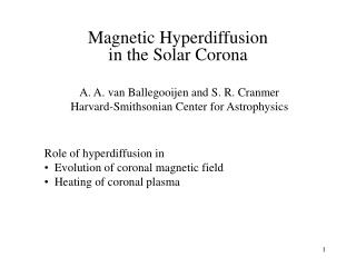 Magnetic Hyperdiffusion in the Solar Corona