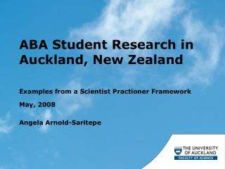ABA Student Research in Auckland, New Zealand