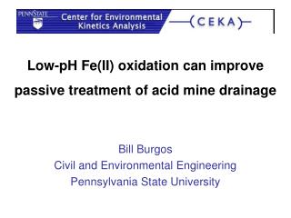 Low-pH Fe(II) oxidation can improve passive treatment of acid mine drainage