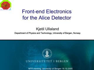 Front-end Electronics for the Alice Detector