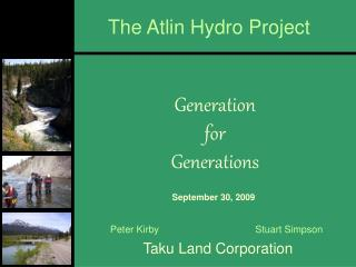 The Atlin Hydro Project