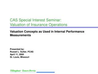 CAS Special Interest Seminar: Valuation of Insurance Operations