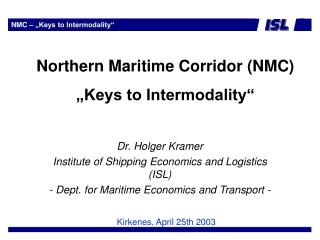 "NMC – ""Keys to Intermodality"""