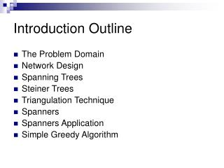 Introduction Outline