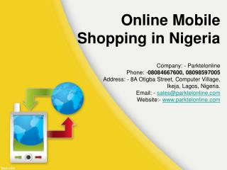 Online Mobile shopping in Nigiria - Parktelonline.com