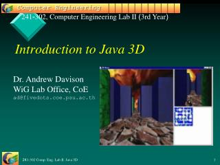 Introduction to Java 3D