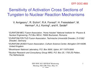 Sensitivity of Activation Cross Sections of Tungsten to Nuclear Reaction Mechanisms