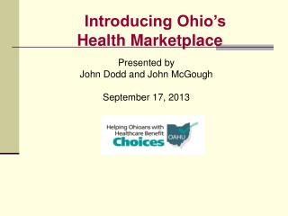 Introducing Ohio's  Health Marketplace