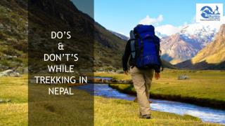 Do's & Don't's While Trekking in Nepal