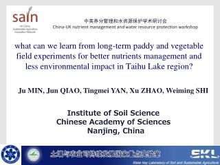 Institute of Soil Science Chinese Academy of Sciences Nanjing, China