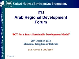THE ROLE OF ICT IN SUSTAINABLE DEVELOPMENT