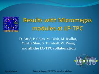 Results with  Micromegas  modules at LP-TPC