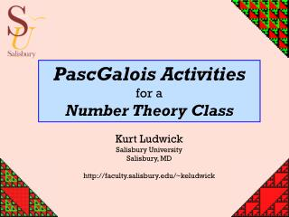 PascGalois Activities for a Number Theory Class