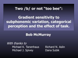 "Two /b/ or not ""too bee"":"