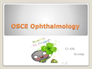 OSCE Ophthalmology