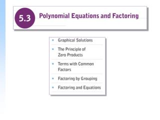 Polynomial Equations